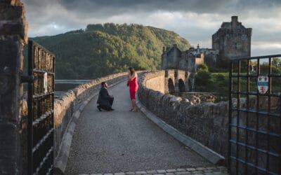 Proposal at Eilean Donan Castle
